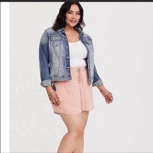 Torrid blush pink shorts 1x